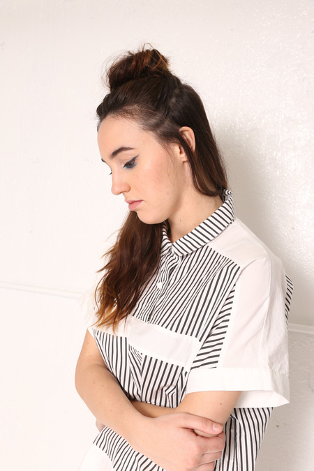 Intentionally Blank SID  Striped Shirt Dress