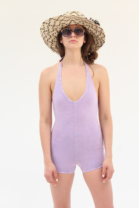 Lina Rennell Tie Swimsuit Lilac