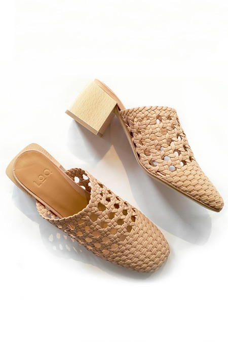 LOQ Ines Woven Leather Mule - Yute