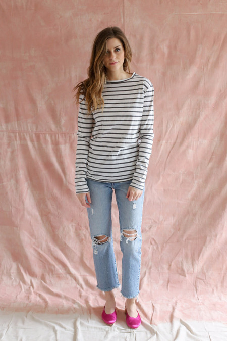 Ragdoll LA Striped Long Sleeve Tee Black/White