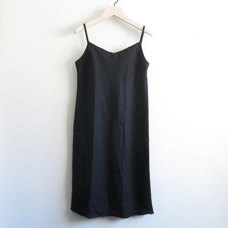 Artemesia linen slip dress - black