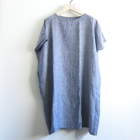 Artemesia linen wide dress - chambray