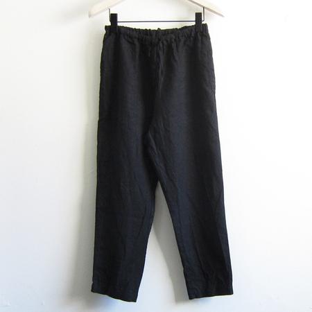 Artemesia cropped linen pant - black