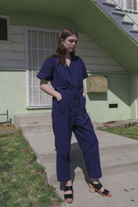 Caron Callahan Christine Jumpsuit in Indigo