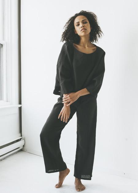 Lloyd - Summer Pant in Black Linen
