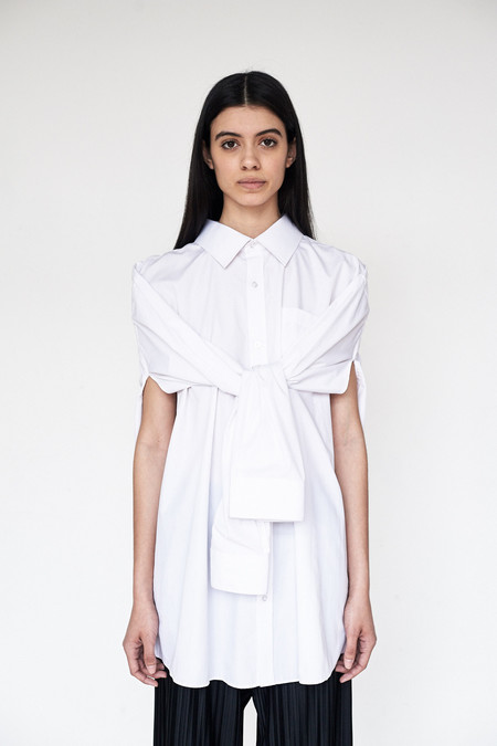 Assembly New York Cotton O/S Button-up Top