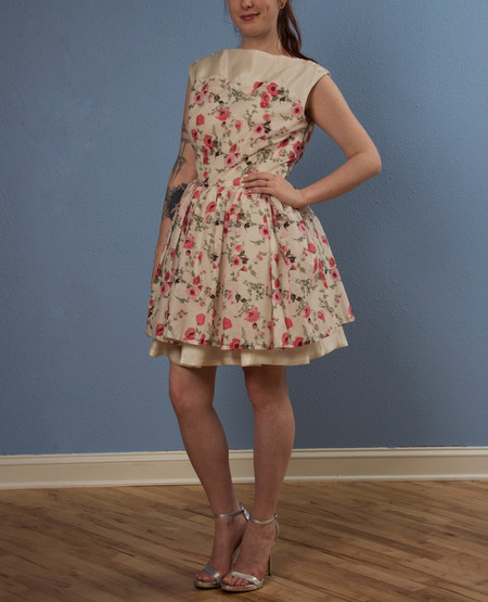 "Opal Heart ""Saturday Poppies"" Couture Dress"