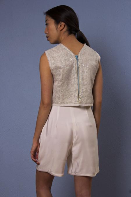 Opal Heart Sporty Silk Shorts