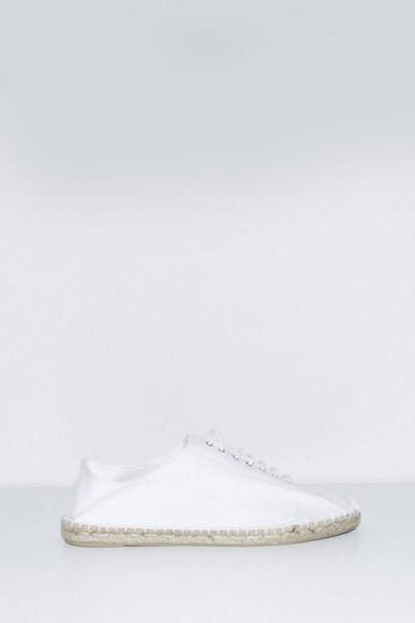 Unisex Assembly New York Plaza Canvas Espadrille - White