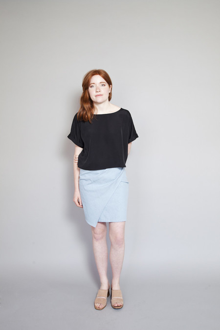 Sara Duke Your Favourite Shirt Crop Black