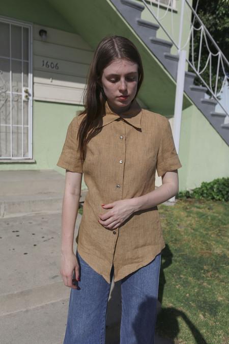 Town Clothes Mia Shirt in Edwardian Stripe Linen