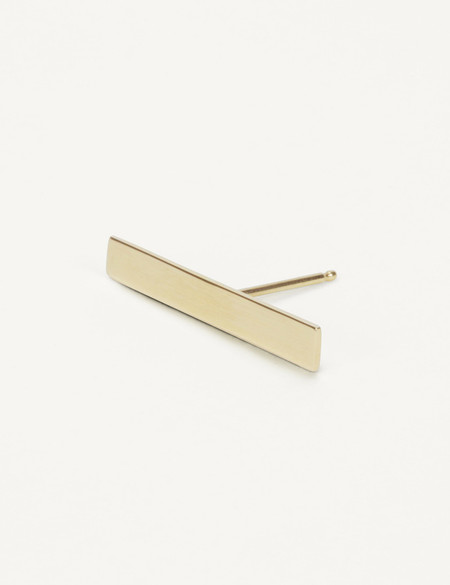 Kathleen Whitaker Long Plate Stud - Gold