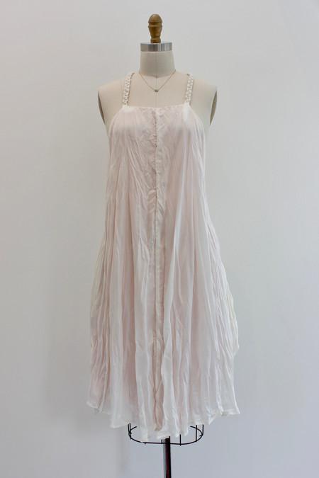 Hazel Brown Silk drop dress