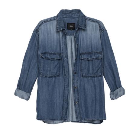 Rails Linney Shirt Jacket in Antique Indigo