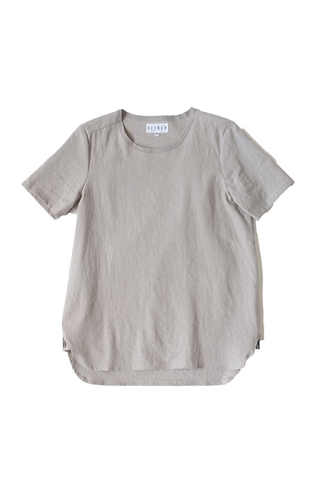 Unisex SEEKER Woven Tee in Light Grey