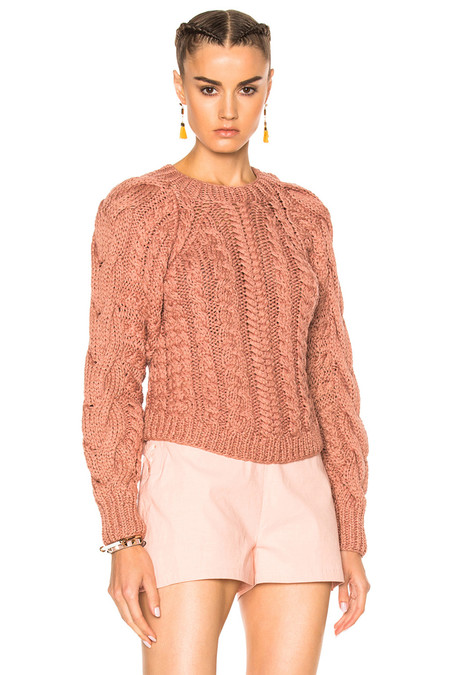 Ulla Johnson NIVA PULLOVER IN ROSEWOOD