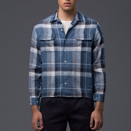 KRAMMER & STOUDT - Cesar Vintage Shirt - Blue Plaid