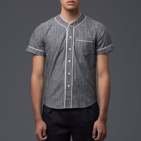 KRAMMER & STOUDT - Baseball Shirt - Grey with White Stripe