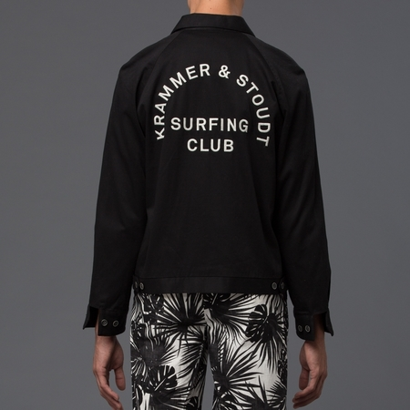 KRAMMER & STOUDT - Surfing Club Jacket - Black w/ Embroidery