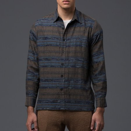 THADDEUS O'NEIL - Voyager Shirt - Sage Multi (SEE NOW, BUY NOW)