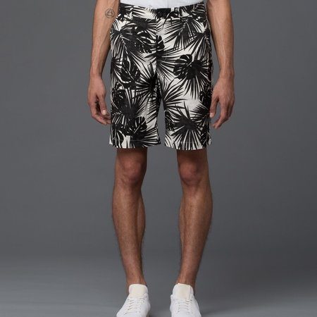 KRAMMER & STOUDT - Bogart Short -­ Hawaiian White and Black Print