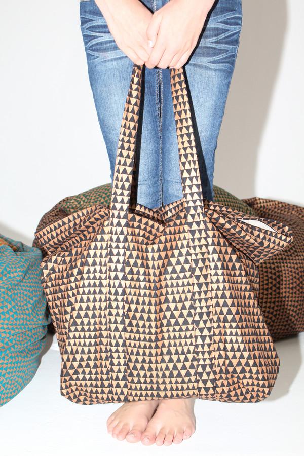 Lina Rennell Silk Tote Bag Copper Dragon