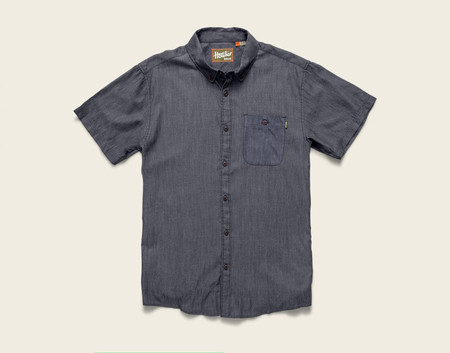 Howler Brothers - Mansfield Shirt Scattergun - Navy