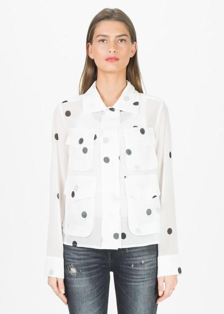 Odeeh Sheer Four Pocket Shirt Jacket