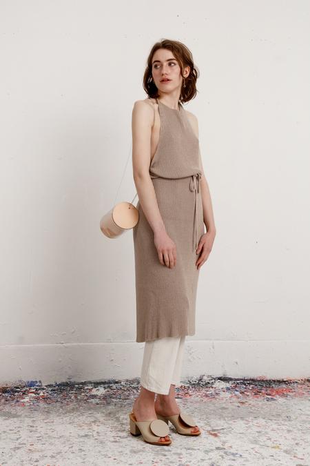 Baserange Knit Apron Dress - Khaki