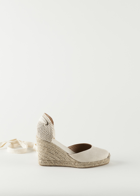 Soludos Tall Wedge Linen Shoe - Blush