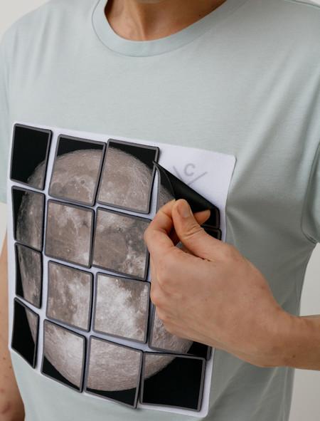 Christopher Raeburn Velcro Moon T-Shirt  Grey