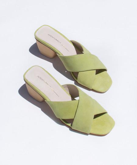 Intentionally Blank Green Jasper Heel