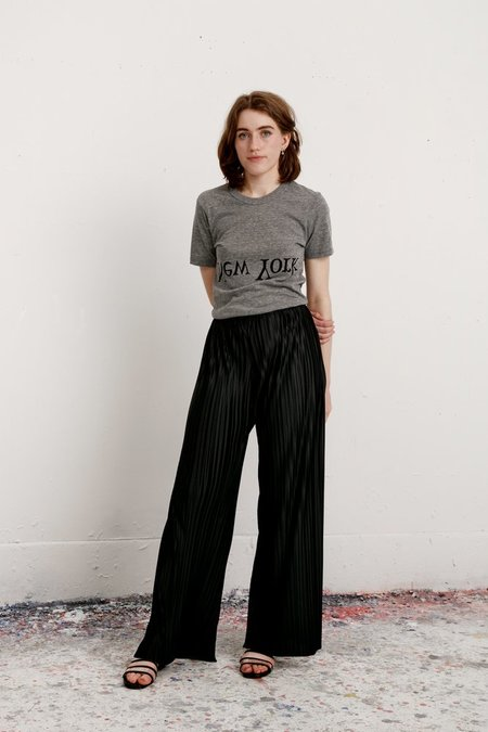 Assembly New York Pleated Simple Pant - Black