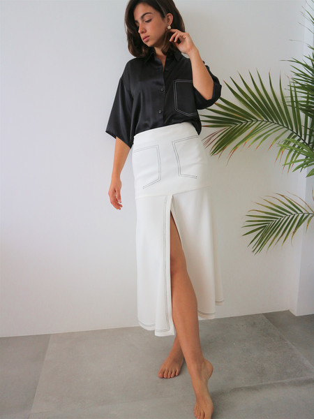 Markoo The Slit Skirt