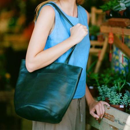Erin Templeton Bucket Bag - Forest