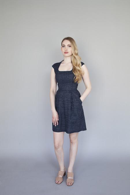 Jennifer Glasgow – Emanate Dress Navy Dot