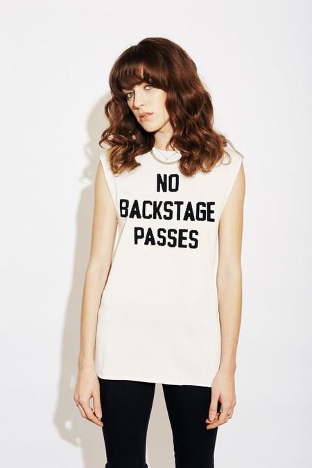 Replica No Backstage Passes Muscle T - White