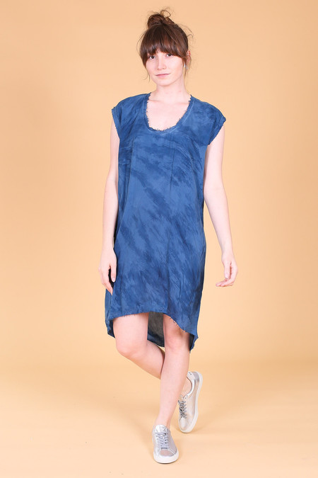 Pharaoh Cocoon dress in blue