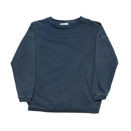 Unisex Olderbrother Hand Me Down - Drop Shoulder Crew - Indigo Plus