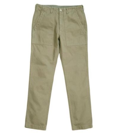 ALEX MILL PATCH POCKET PANT STONE