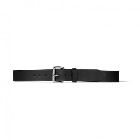 "Filson 1-1/2"" Black Leather Belt"