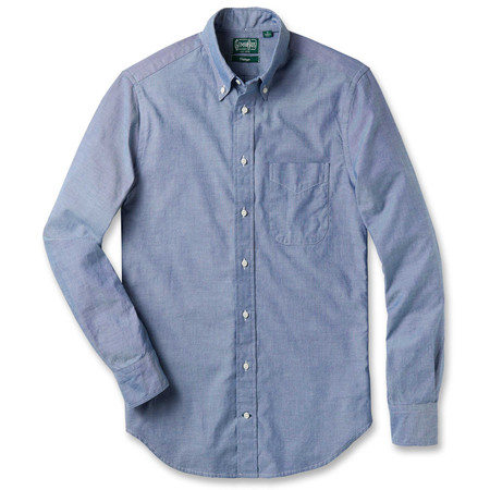 Gitman Vintage Blue Chambray Oxford