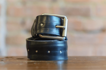 Milworks Black Leather Belt