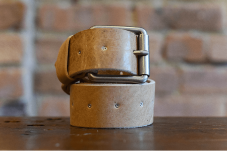 Milworks Natural Leather Belt
