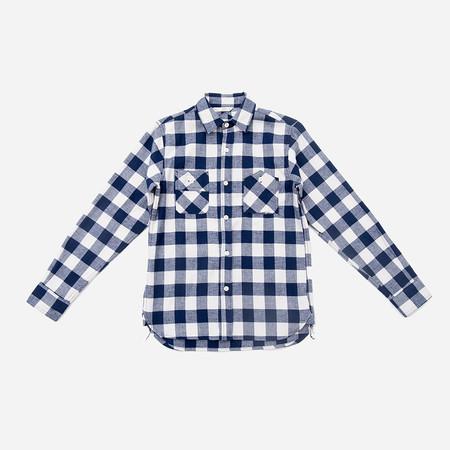 3Sixteen Workshirt - Indigo Waffle Knit
