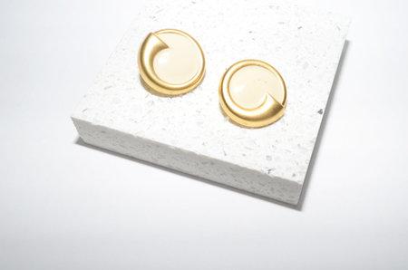 Clan of Cro Vintage Gold Circle Stud Earrings