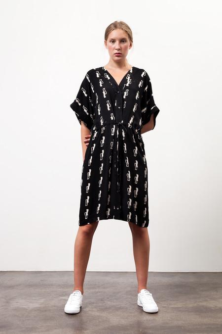 Osei-Duro Toss Kimono in Squiggles