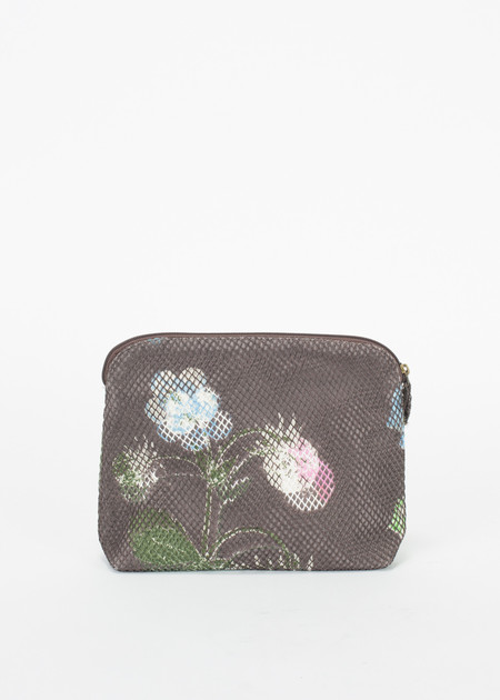 Epice Canvas and Mesh Flower Clutch