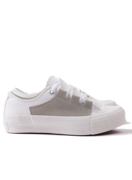 Needles S17 Asymmetric Ghillie Sneaker Off White