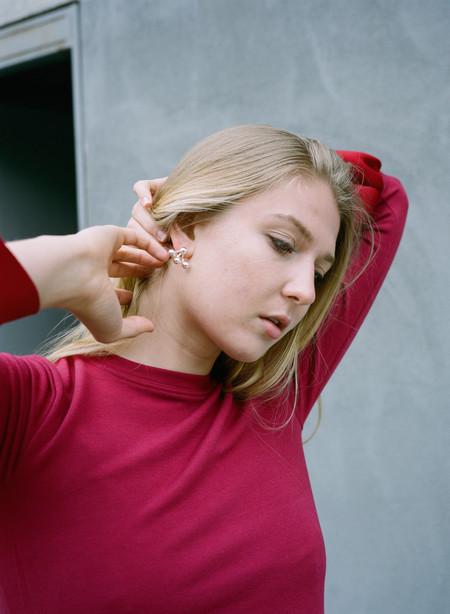 Ruby Star Triple Piercing Earring